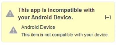 """image of """"วิธีดาวน์โหลดแอปแอนดรอยด์ที่ล็อกโซนหรือไม่สามารถใช้งานกับอุปกรณ์ของคุณได้"""""""