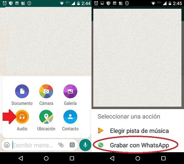 Mensajes de voz de WhatsApp