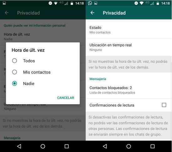 Imagen 4 - Técnicas para utilizar WhatsApp sin aparecer en línea