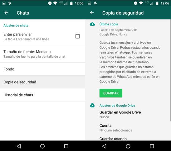 Imagen 3 - Cómo transferir conversaciones de WhatsApp a un smartphone nuevo