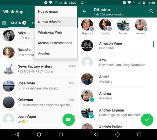Imagen 3 - En qué consisten las difusiones de WhatsApp y cómo utilizarlas