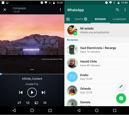 Imagen 3 - Cómo agregar música de fondo a tus estados de WhatsApp