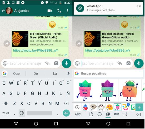 Imagen 3 - Como agregar y enviar pegatinas en WhatsApp