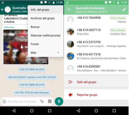 Imagen 4 - Cómo salir de un grupo de WhatsApp sin que nadie lo note