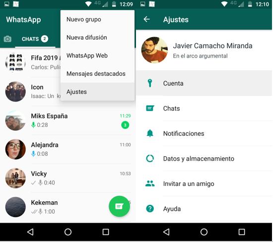 Imagen 3 - Cómo borrar tu cuenta de WhatsApp en Android