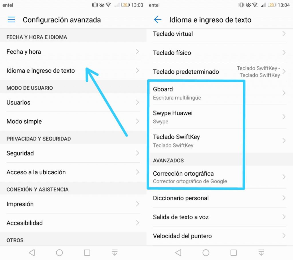 Imagen2 ¿Cómo activar y desactivar el corrector ortográfico de tu Android?