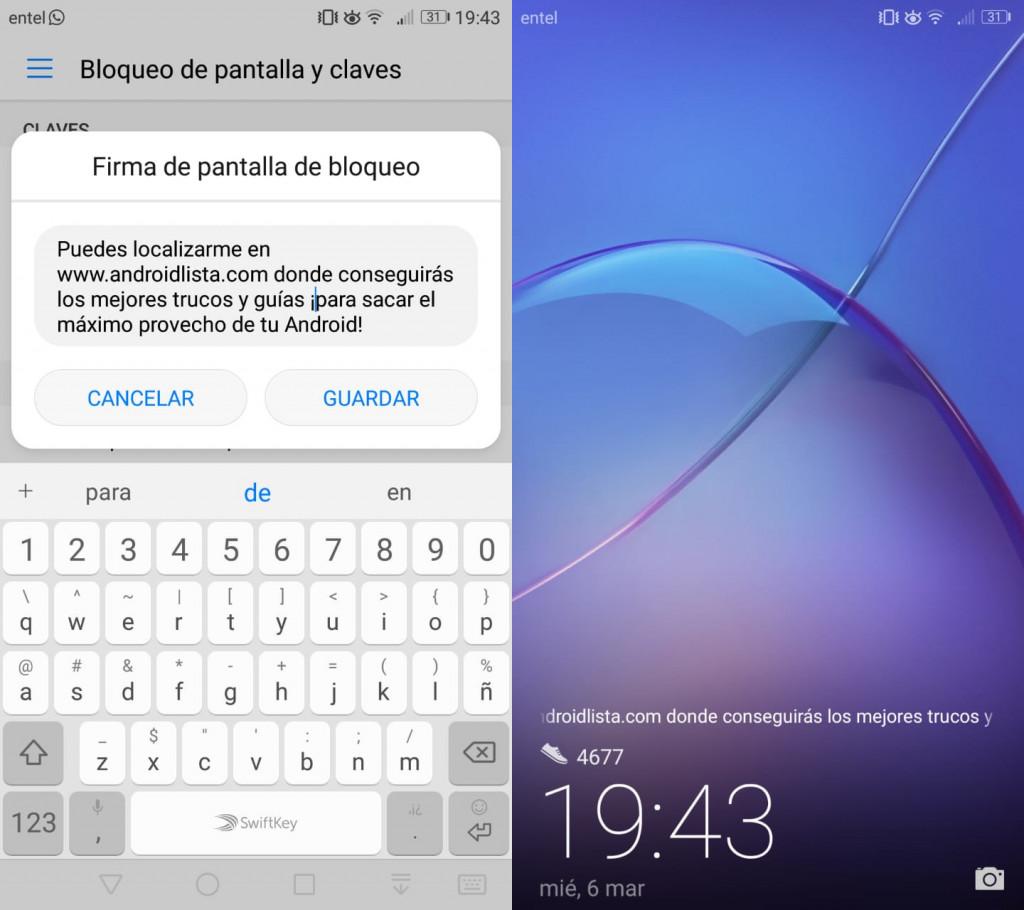 Imagen3 ¡Agrega un mensaje a la pantalla de bloqueo en Android!