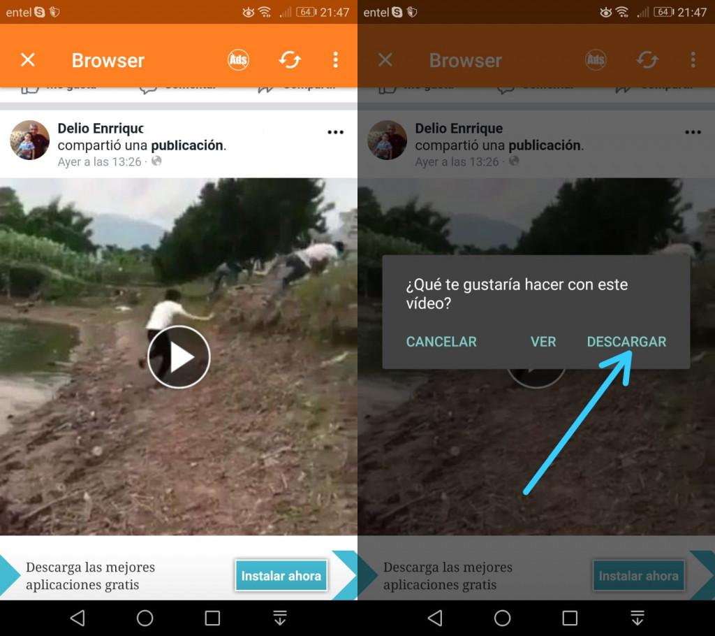 Imagen2 ¿Cómo descargar videos de Facebook en Android?
