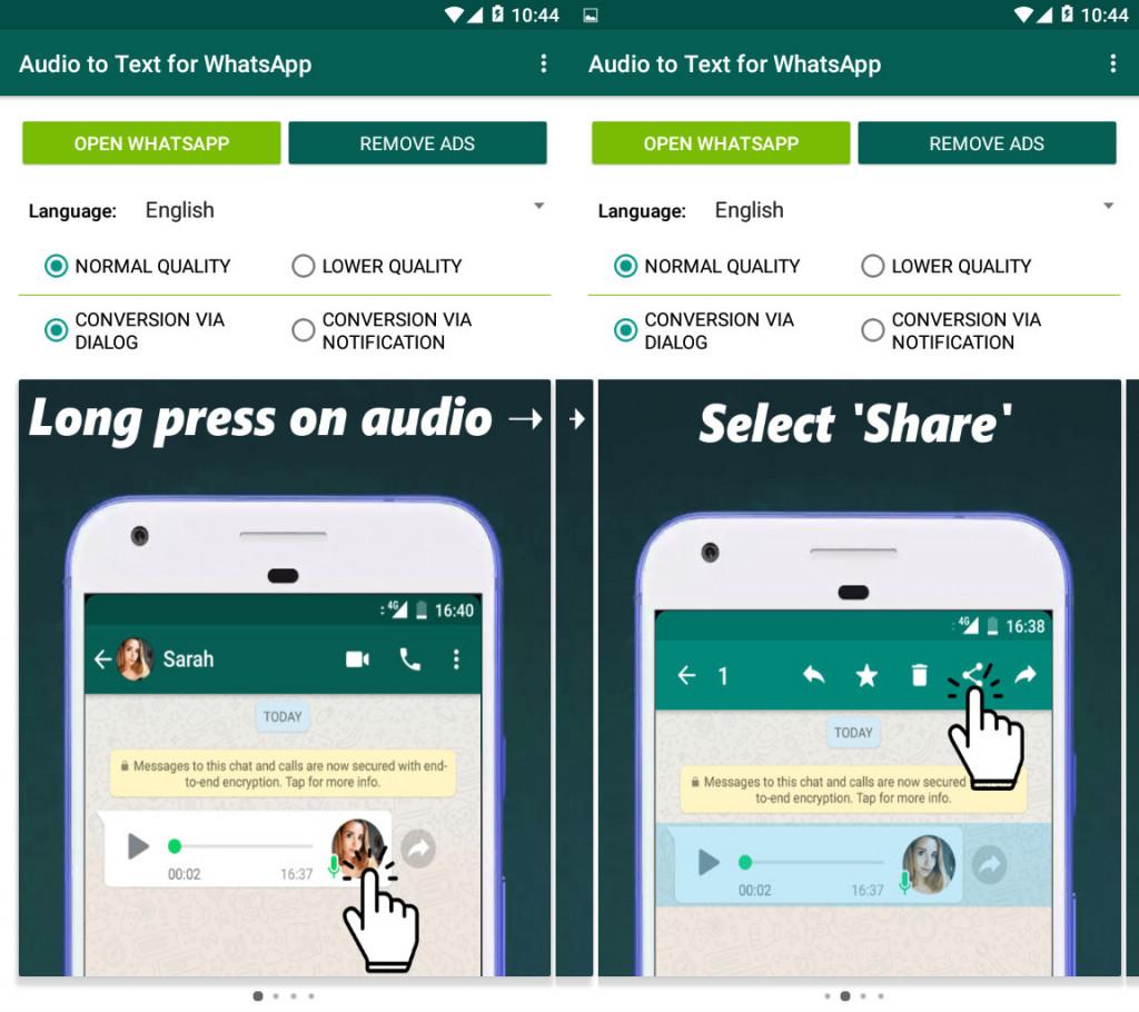 Imagen1 Convierte notas de voz de WhatsApp en texto desde tu Android