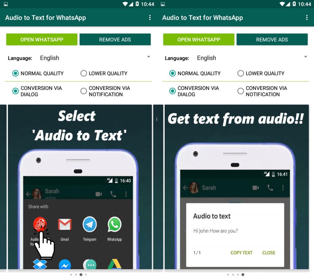 Imagen2 Convierte notas de voz de WhatsApp en texto desde tu Android