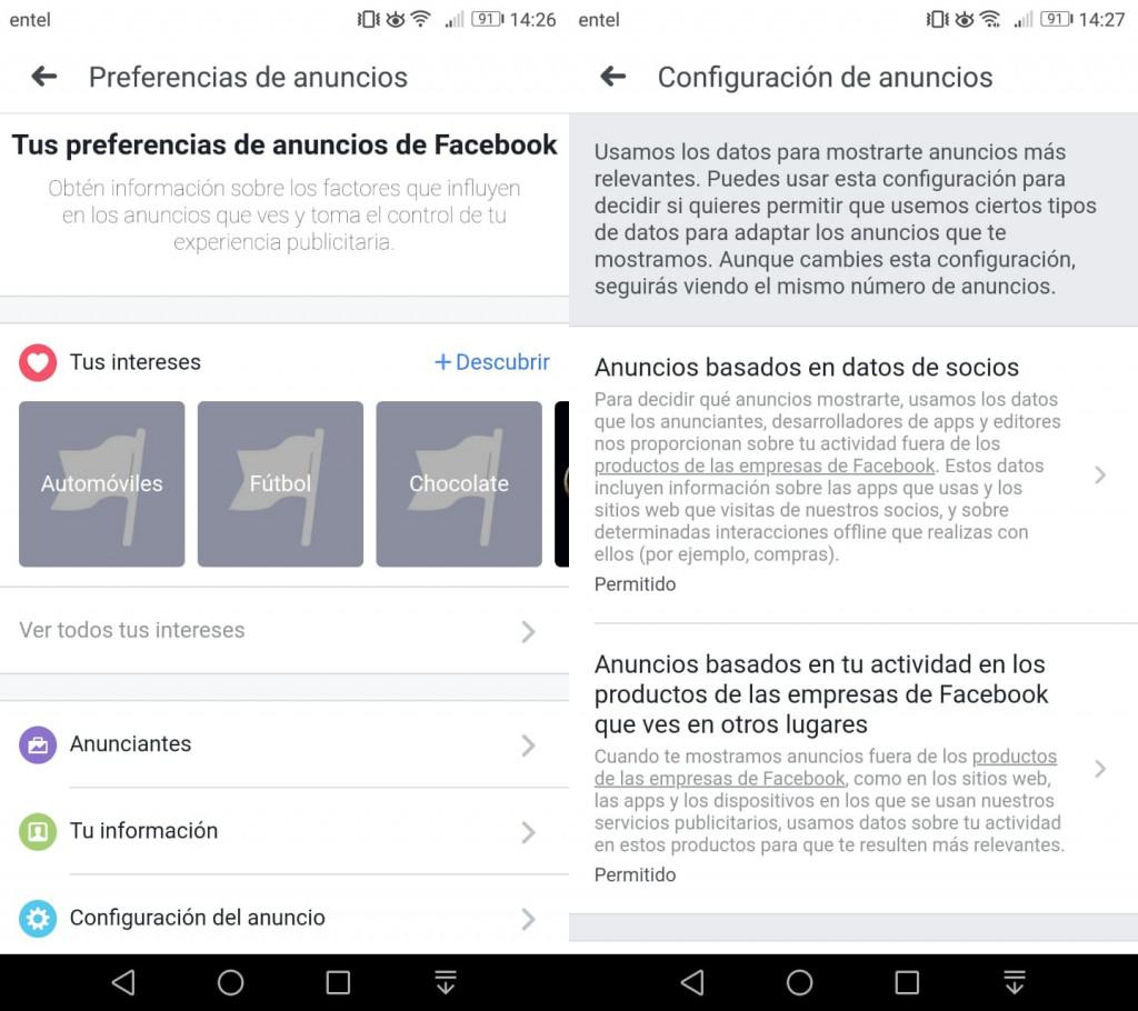 Imagen2 ¿Cómo cambiar los anuncios recibidos en Facebook?