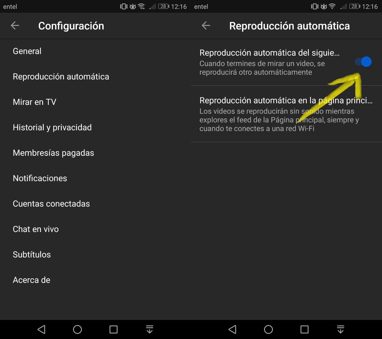 Imagen2 ¿Cómo desactivar la reproducción automática en YouTube?