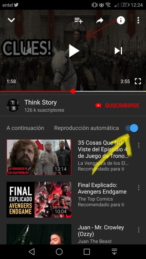 Imagen3 ¿Cómo desactivar la reproducción automática en YouTube?