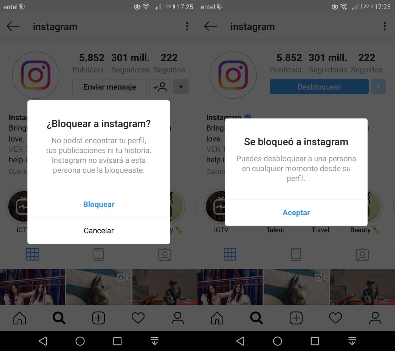 Imagen2 ¿Cómo bloquear a alguien en Instagram?
