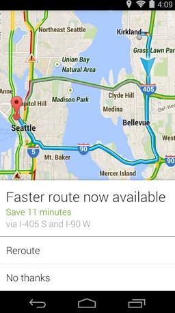 Google Maps ahora nos alerta si hay una ruta más rápida disponible durante el viaje