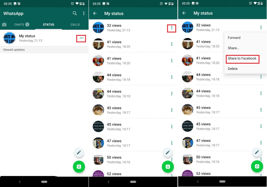 How To Share Your Whatsapp Status On Facebook