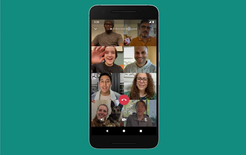 WhatsApp Now Supports Eight-Person Video Calls