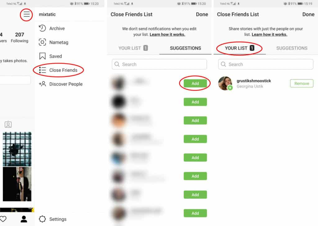 Image 4: How to Selectively Hide Instagram Stories on Android