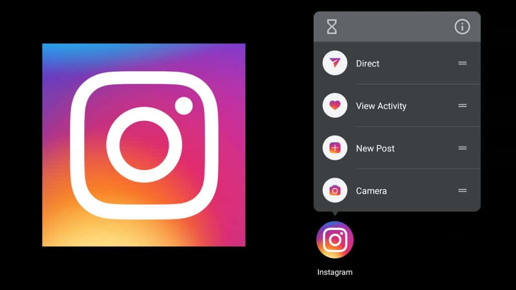 Image 1: You Can Now Add App Shortcuts for Instagram on Android