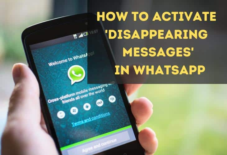 Image 1: How to Activate Disappearing Messages on WhatsApp