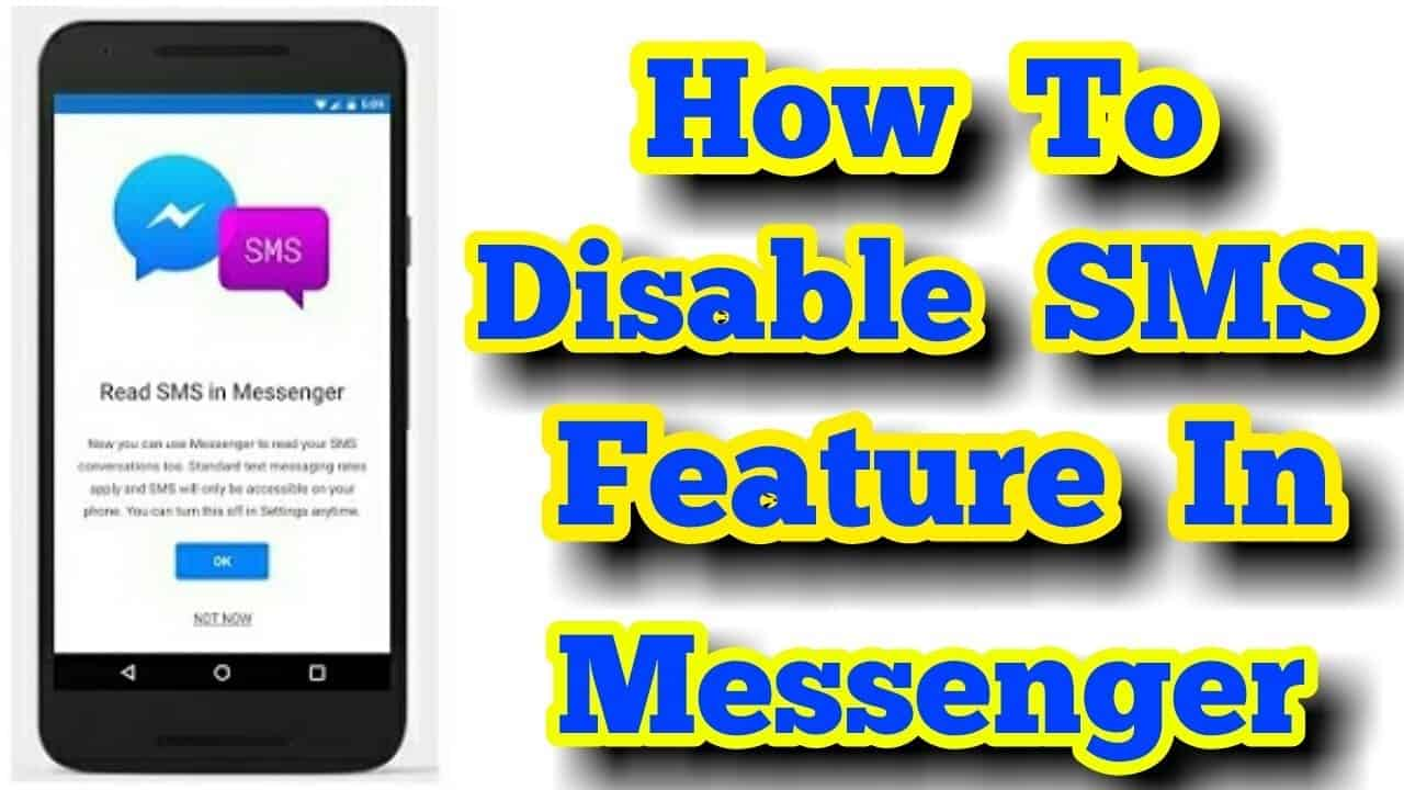 Image 3: How to Disable the SMS Feature in Facebook Messenger
