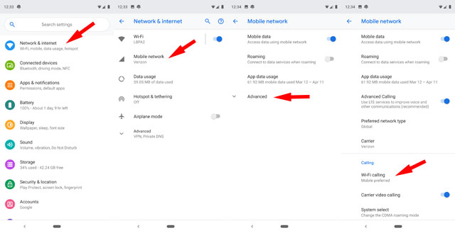 Image 2: How to Use WiFi Calling on Android Screen reader support enabled.