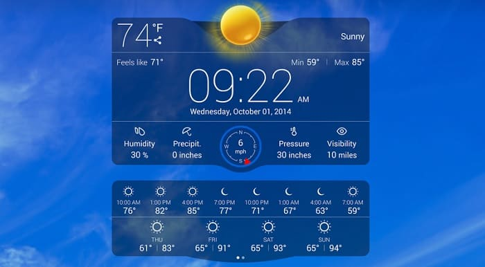 Image 1: Best Weather Apps and Widgets for Android