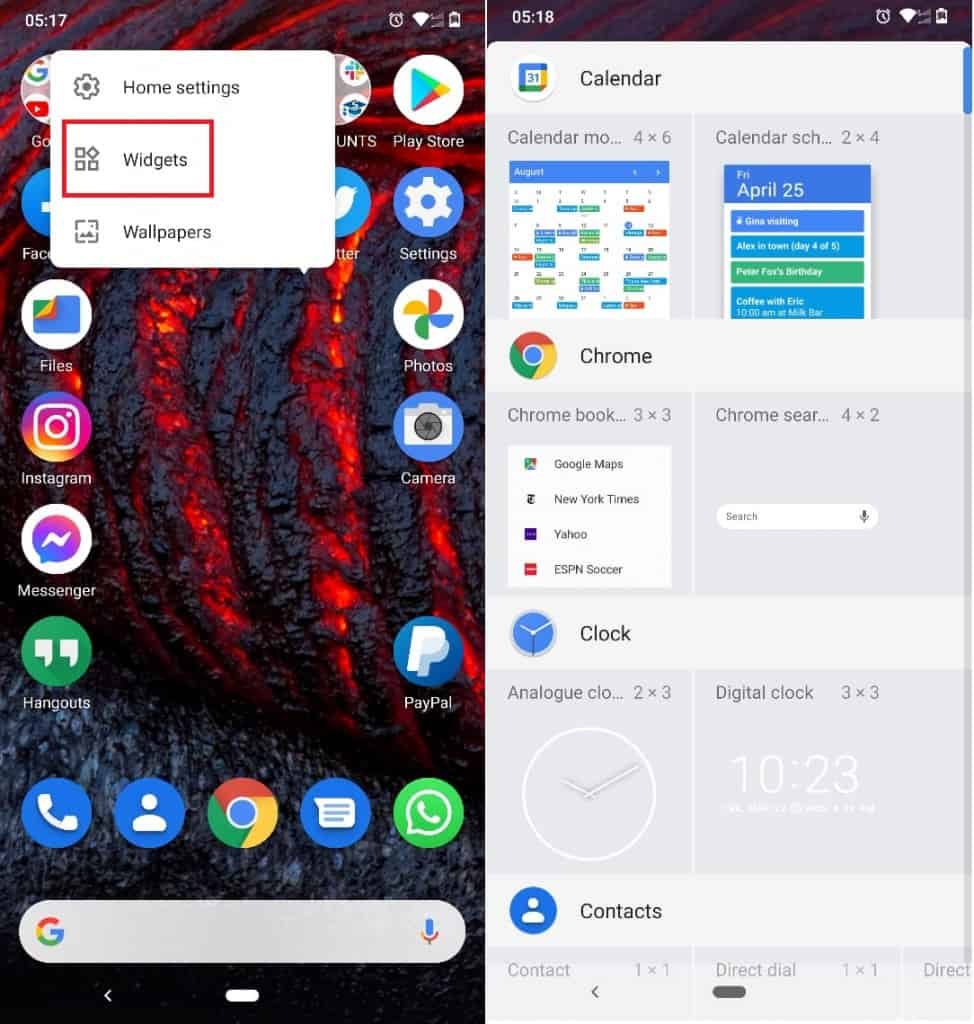 Image 3: How To Add Clock & Weather Widget to Home Screen on Android
