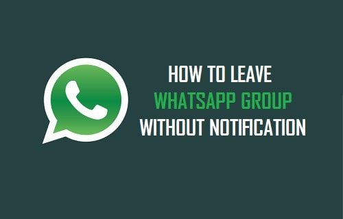 How to Leave a WhatsApp Group without Anyone Knowing