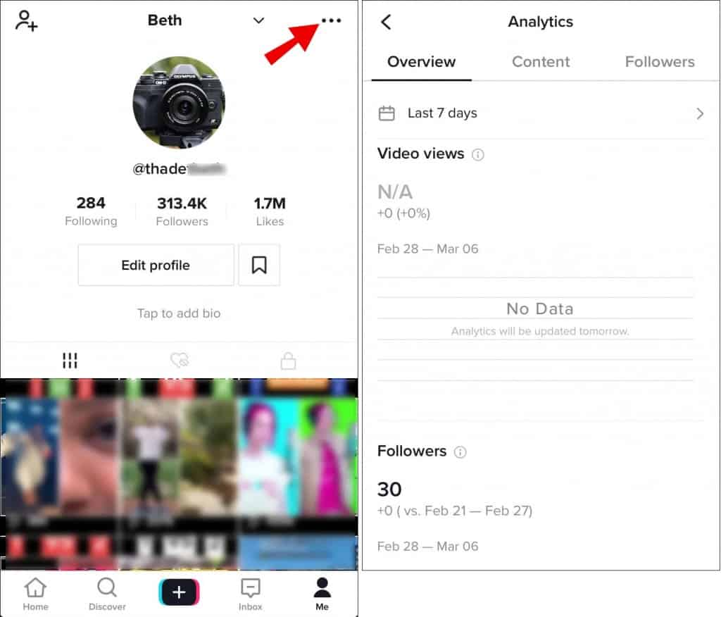 Image 4: TikTok Analytics & Stats: Access and Learn from it