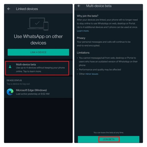 Image 3: WhatsApp's New Multi-Device Feature: How to Get and Use
