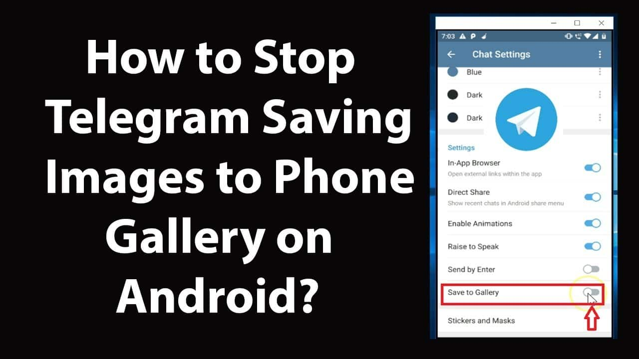 Image 1: How to Stop Telegram Saving Photos to Your Phone Gallery