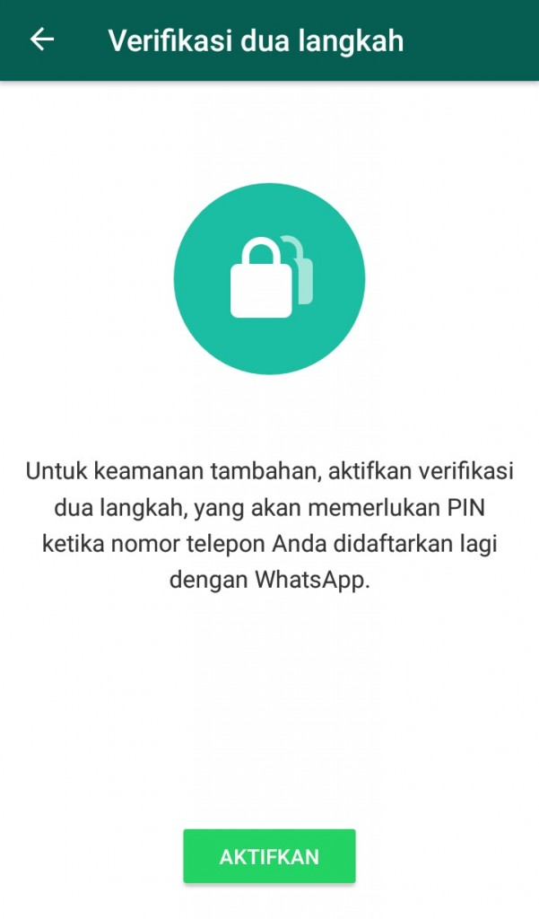 Image of whatsapp two factor authentication