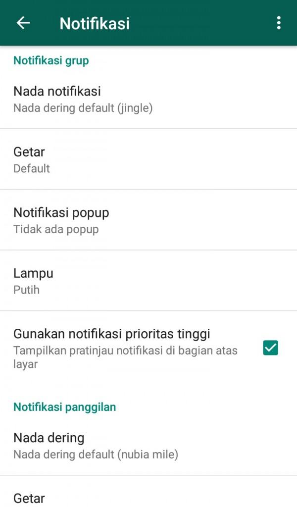 image of Cara Mengatur Setelan Pemberitahuan di WhatsApp untuk Android
