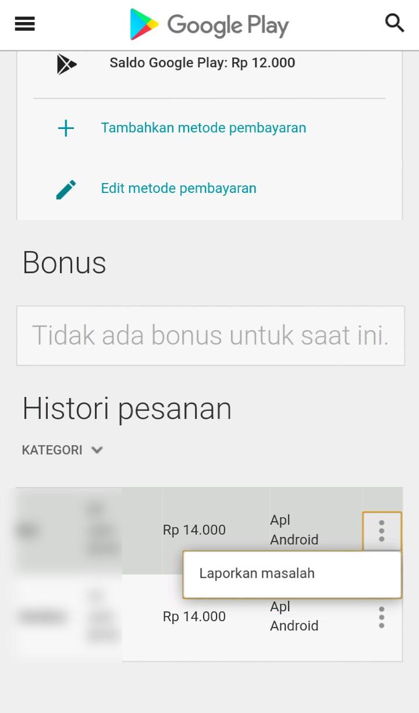 Image 3 Cara Meminta Refund atau Pengembalian Dana untuk Pembelian Google Play Store