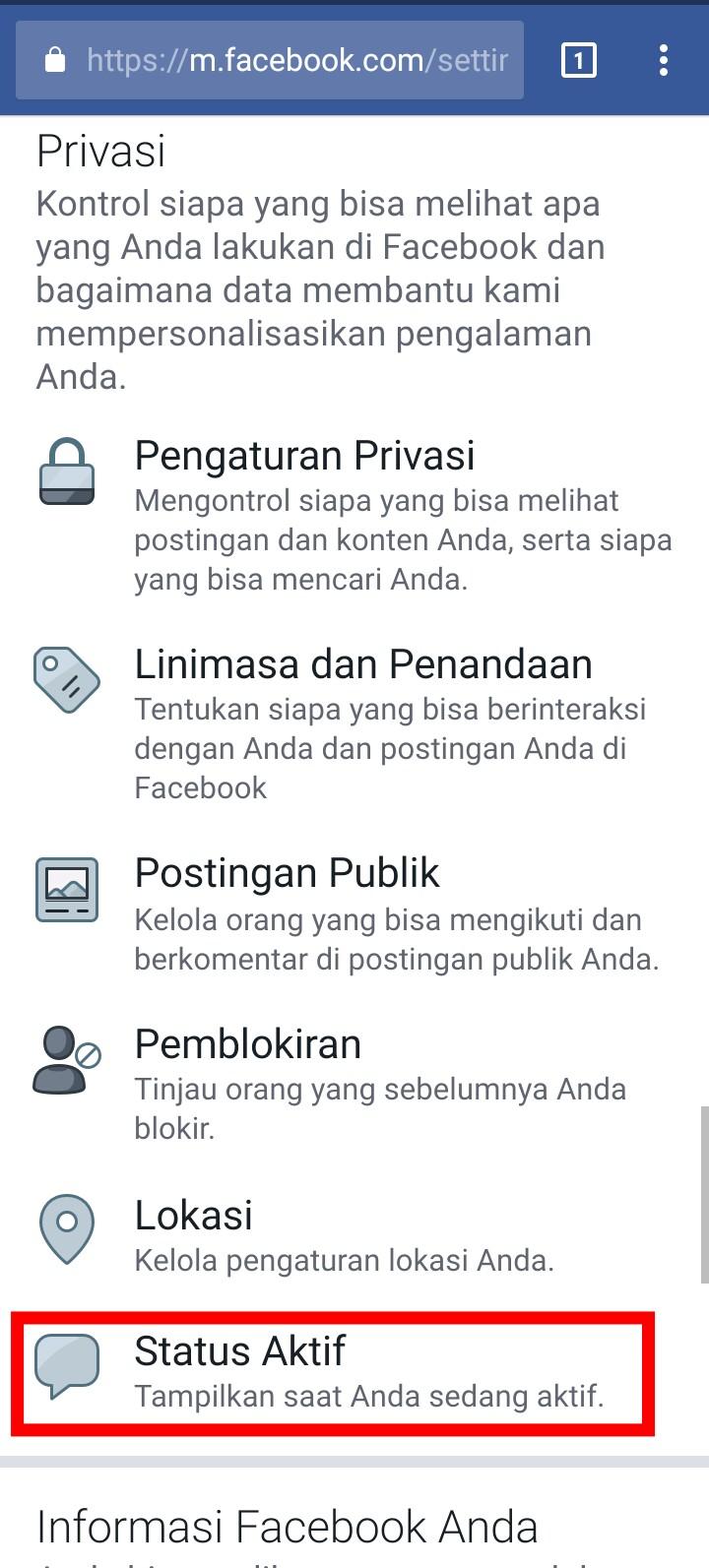 Image 3 Menyembunyikan Status Aktif Anda di Facebook Messenger