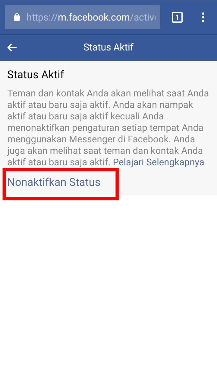 Image 4 Menyembunyikan Status Aktif Anda di Facebook Messenger