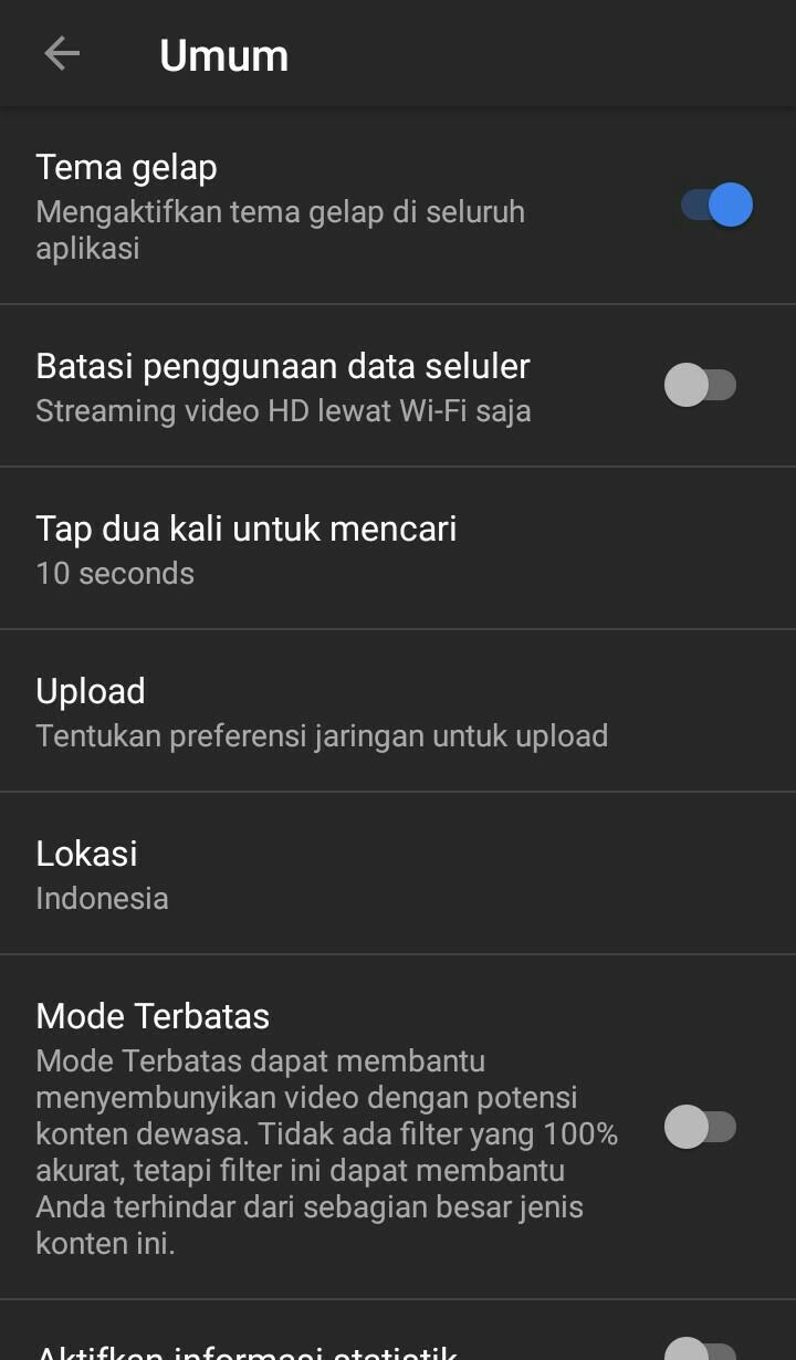 Image 4 Cara Mengaktifkan Mode Gelap YouTube di Android