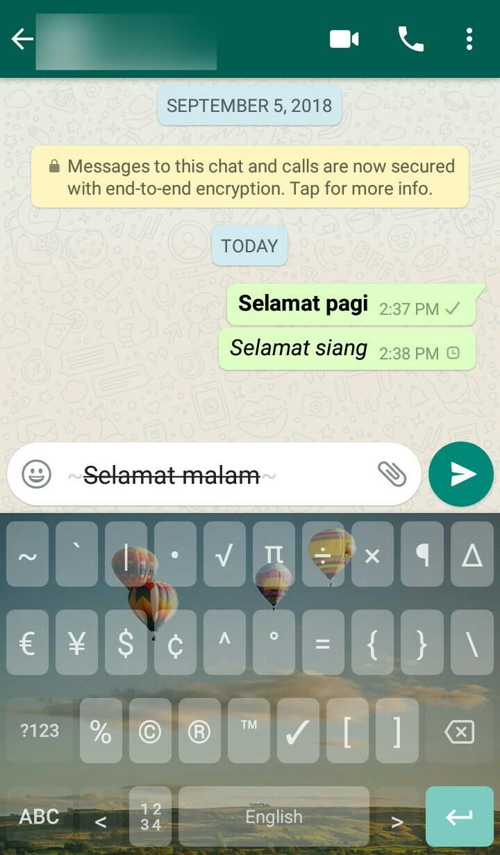 Image 4 Cara Membuat Teks Tebal, Miring, dan Tercoret di WhatsApp