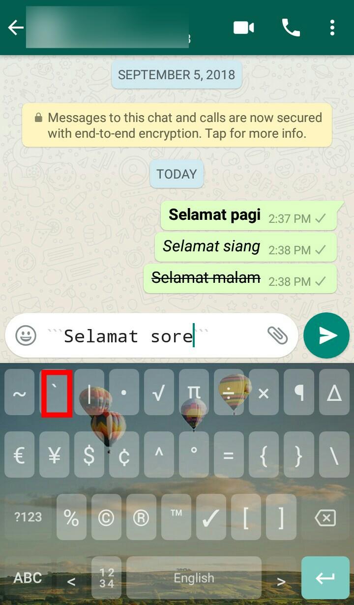 Image 5 Cara Membuat Teks Tebal, Miring, dan Tercoret di WhatsApp