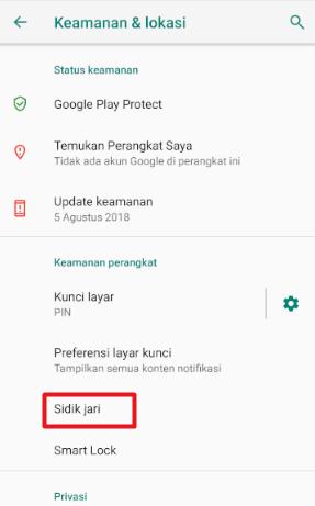 Image 12 Cara Menyiapkan Kunci Layar, Sidik Jari & Sensor Wajah untuk Keamanan di Android