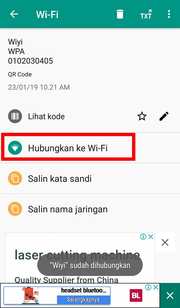 Image 2 Bagikan Kata Sandi Wi-Fi dengan Kode QR di Android