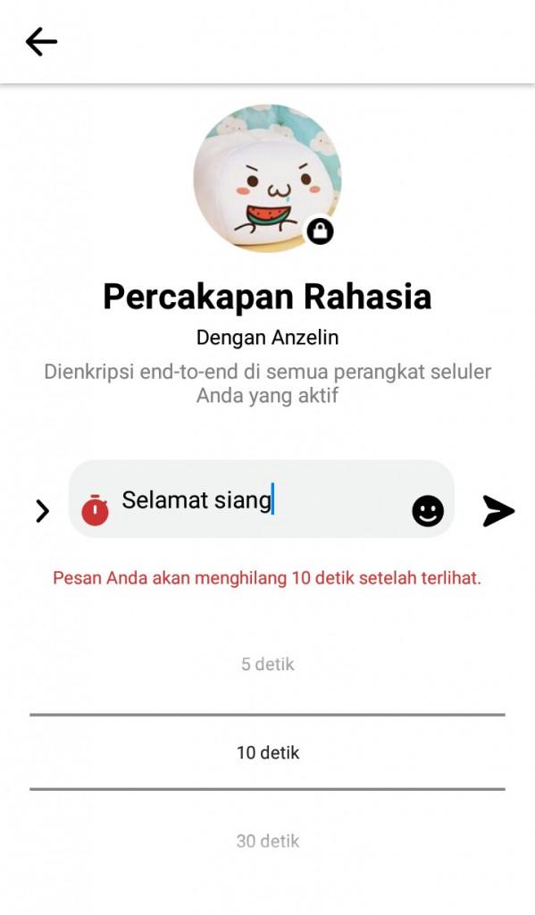 Image 9 Cara Mengirim Pesan Swahancur di Android