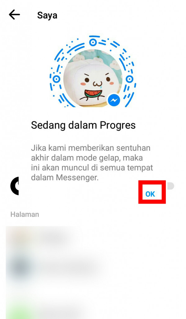 Image 2 Mode Gelap Facebook Messenger Akhirnya Tiba - Buka dengan Sebuah Emoji!