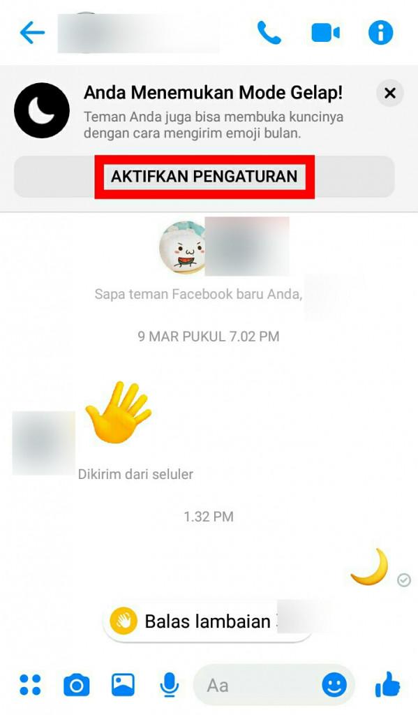 Image 10 Mode Gelap Facebook Messenger Akhirnya Tiba - Buka dengan Sebuah Emoji!