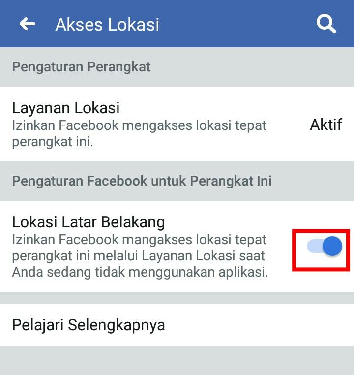 Image 2 Cara Menghentikan Facebook dari Melacak Lokasi Anda di Latar Belakang