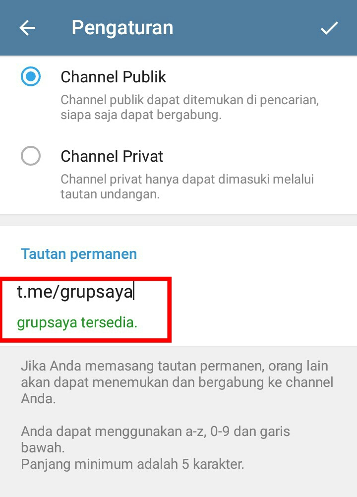 Image 14 Membuat Grup dan Channel di Telegram: Begini Caranya