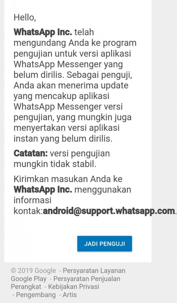 Image 4 APK WhatsApp: Menjadi Beta Tester atau Unduh Versi Lama WhatsApp di Android