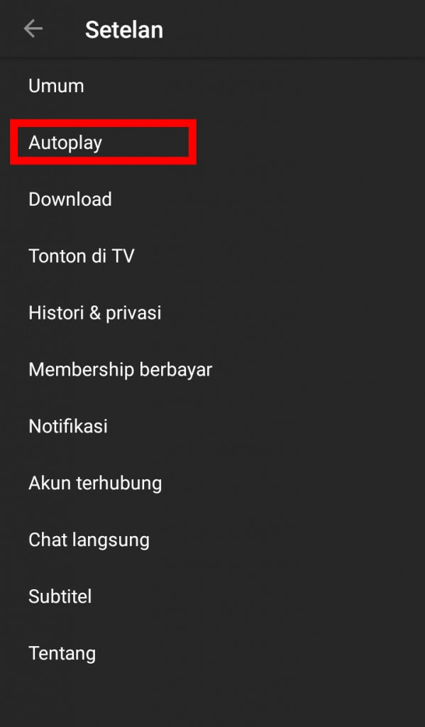 Image 1 Cara Mematikan Autoplay Video YouTube di Android