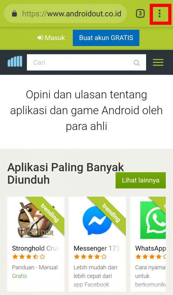 Image 4 Cara Menambahkan Pintasan Situs di Android Android